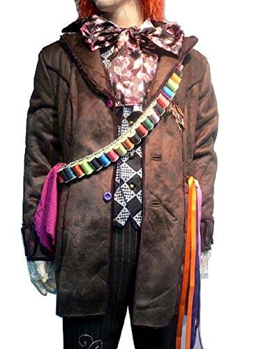 [Mad Hatter Bandolier Thread Belt Colourful Yarn Costume Bandoleer] (Bandolier Belt)