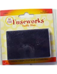 Fuseworks Transparent 90 COE Fusible 2-Inch-by-3-Inch Glass, ...