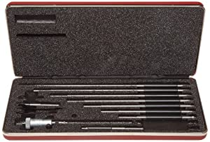 "Starrett 124BZ Solid-Rod Vernier Inside Micrometers Set, 2-12"" Range"