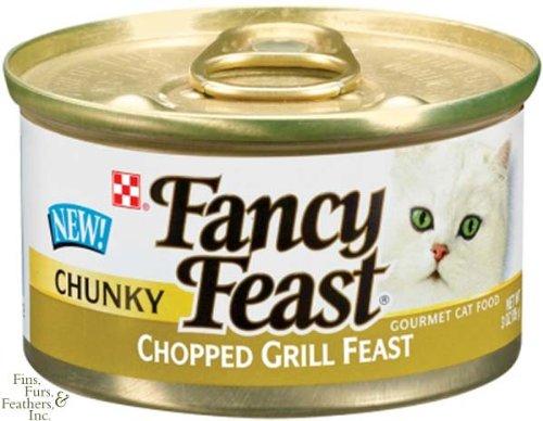 Fancy Feast Chunky Chopped Grill Feast Canned Cat Food 24 -