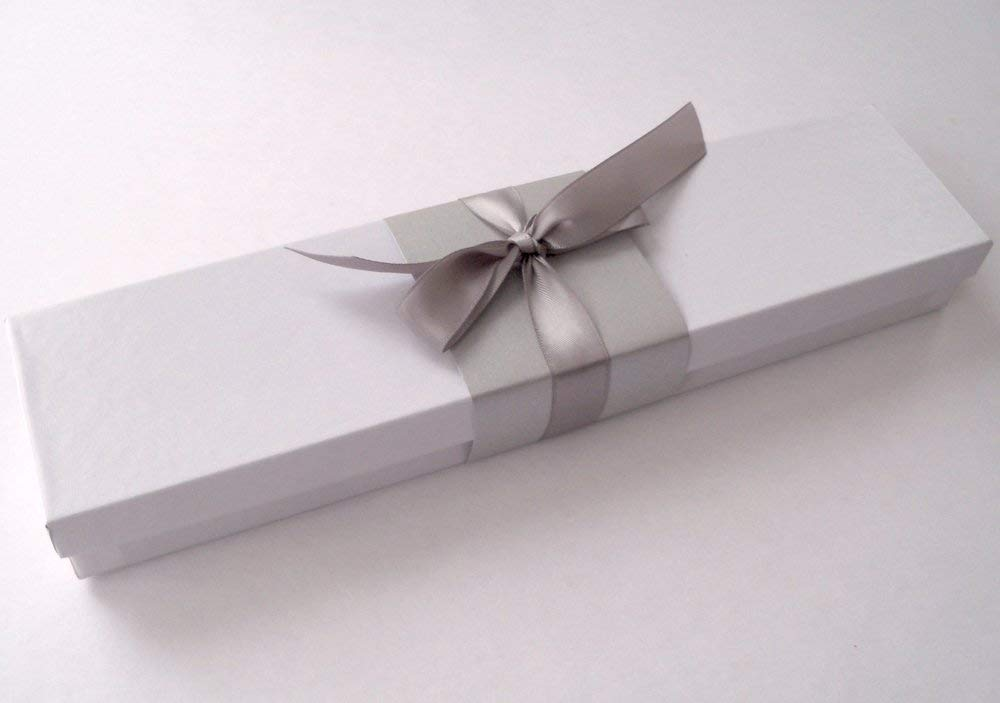 Blank Scroll for wedding vows, handwritten letter, wedding proposal, or secret message, white paper with silver finials and presentation box, 5'' wide paper by Artful Beginnings