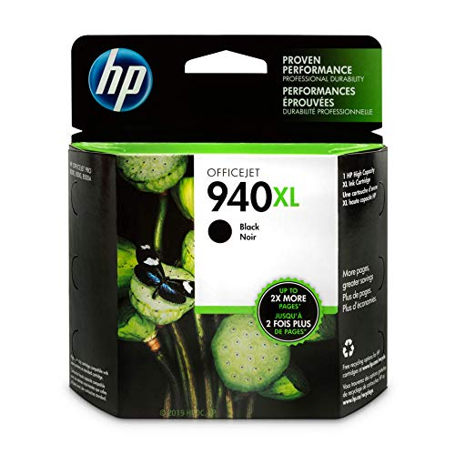HP 940XL Black Ink Cartridge (C4906AN)
