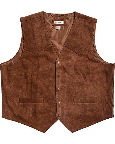 - Roper Men's Suede Vest Chocolate XXX-Large