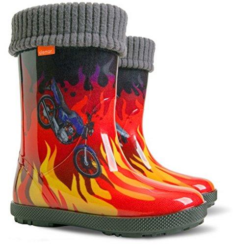 DEMAR Kids Boys Girls Wellies Wellington Boots Rainy Snow Modern design Size 5-13 MF