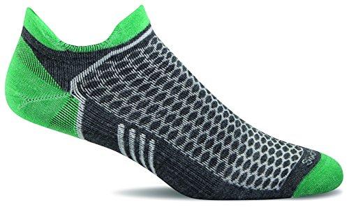 Sockwell Womens Incline Inspire Athletic Ultra Light Micro Socks  Charcoal  Medium Large