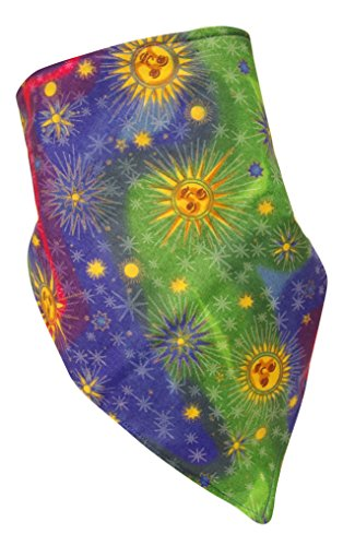 Fierce Face Protection Fleece Lined Bandana Sun and Stars made in Connecticut