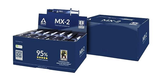 Arctic MX-2 - Compuesto térmico de micropartículas de carbono, pasta térmica para cualquier ventilador de CPU - 4 gramos: Amazon.es: Informática