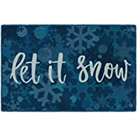 Brumlow Mills EW10304-30x46 Let It Snow Christmas Kitchen and Entryway Holiday Rug, 26 x 310