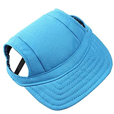 Summer Pet Dog Cute Snapback Baseball Outdoor Accessories Hat PuppyWith Ear Holes from Academyus