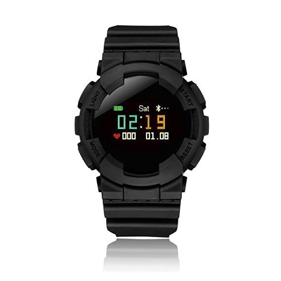 Bluetooth Smart Watch Color Digital OLED Touchscreen for Men Boys Sport IP68 Waterproof Dynamic Heartbeat Rate Pedometer Calorie Counter Running ...