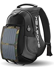 Ghostek NRGsolar Series 40L Eco Computer Laptop Messenger Backpack Book Bag + 16,000mAh Power Bank with 5 USB...