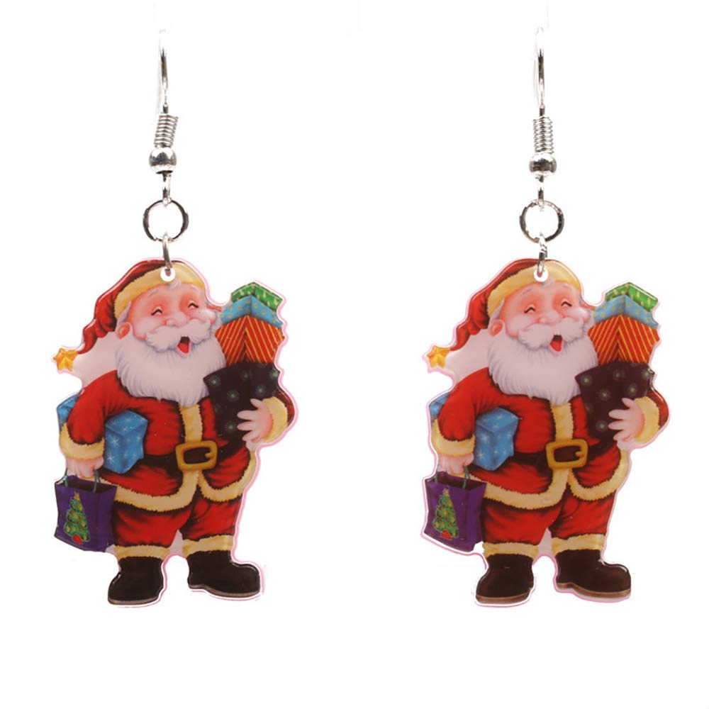 b2b8473723ce9 Amazon.com  Colorful Santa Claus Dangle Earrings,White Snowman Red Xmas  Missing Hat Sunglasses Drop earrings (1)  Jewelry