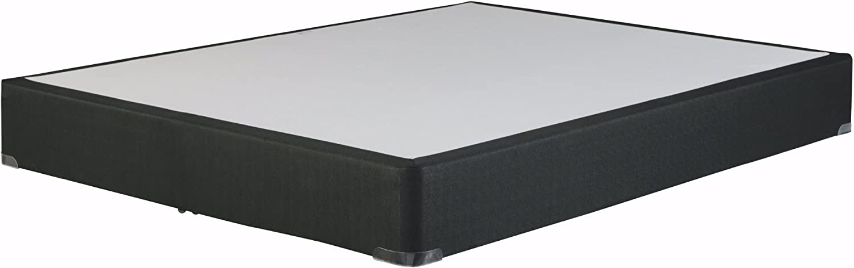 Ashley Furniture Signature Design - M80x Foundation - Nonskid Top - Solid Wood Construction - California King Size Foundation - Black