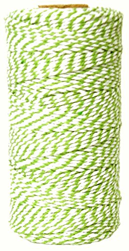 Just Artifacts ECO Bakers Twine 110yd 12Ply Striped Green Apple - Decorative...