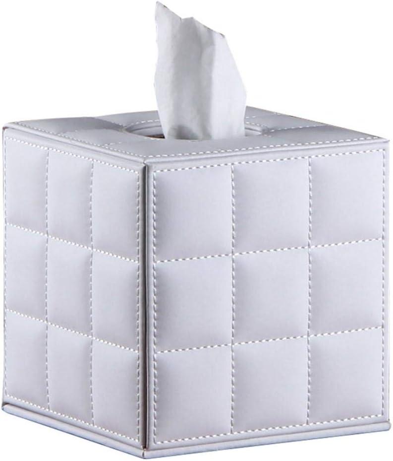 Black PU Leather Cube Facial Tissue Box Tissue Cover//Holder Rectangular Cube Sfor Bathroom//Living Room//Office Vanity Countertops