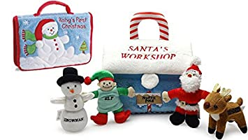 e4616fdca665 Image Unavailable. Image not available for. Color  Baby s First Christmas  Santa s ...