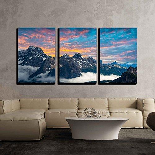 Famous Italian National Park Tre Cime Di Lavaredo Dolomites South Tyrol Auronzo x3 Panels