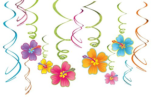 Hibiscus Swirl Decorations -