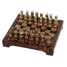 Benzara Polystone Chess Set To Impress with Hosting Style, Set of 33