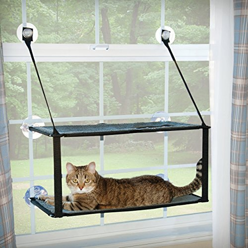 "K&H Pet Products EZ Mount Window Double Stack Kitty Sill Gray 12"" x 23"""