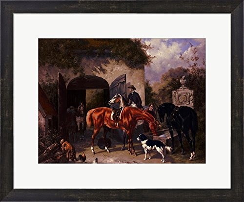 Before The Hunt II by Houston Framed Art Print Wall Picture, Espresso Brown Frame, 23 x 19 inches