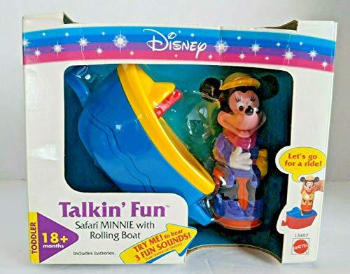 (Disney 1995 Talkin' Fun Safari Minnie with Rolling Boat Toy)