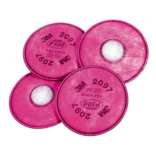 3M 2097 P100 Particulate Filter with Organic Vapor Relief, 2 Pairs (4 Filters) ()