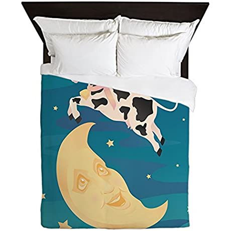 Queen Duvet Cover The Cow Jumped Over The Moon
