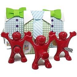 Wine Bottle Stopper, Corkscrew and Bottle Opener Bundle - Perfect Funny Gift - Zaioo Little Man Wine Education