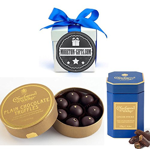 Charbonnel Et Walker Plain Chocolate Truffles And Ginger Thins Collection By Moreton Giftfs Ideal Father's Day, Dad's Birthday Gift