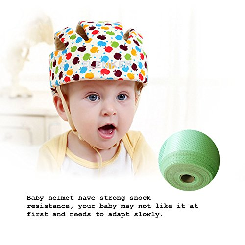 4bd6aefaa8f Baby Adjustable Safety Helmet Children Headguard Infant Protective  Harnesses Cap Colorful