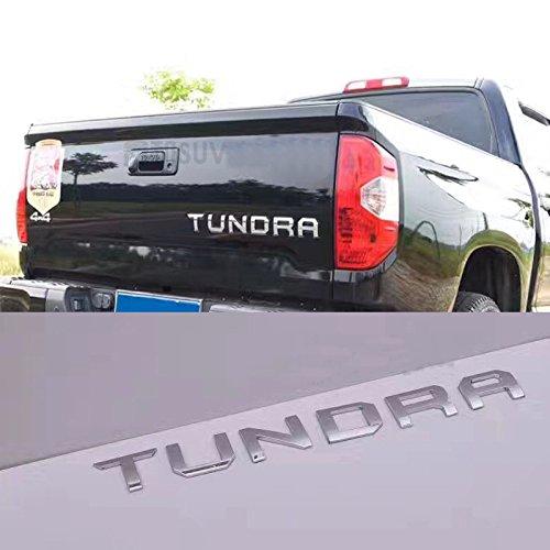 1 OEM Chrome Tundra Tailgate Emblem Badge Insert Separate 3D for 2014-18 Toyota Sanucaraofo