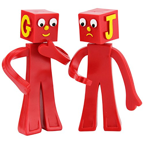 Poseable Figure Set - Prema Toys Gumby and Friends, The Blockheads Bendable, Poseable Figure Set