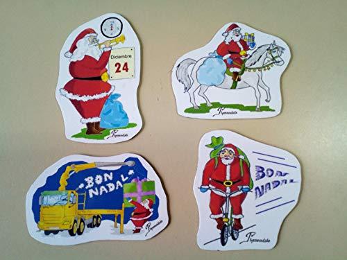Conjunto de imanes flexibles con diseños navideños pesados ...