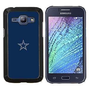 Stuss Case / Funda Carcasa protectora - Minimalista Blue Star - Samsung Galaxy J1 J100