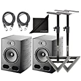 Focal Alpha 80 Active 2-Way 8' Near Field Professional Monitoring Speakers (Pair) with Stands and...