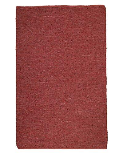 NaturalAreaRugs Handmade Reversible Soriano Leather Rectangle Rug (6