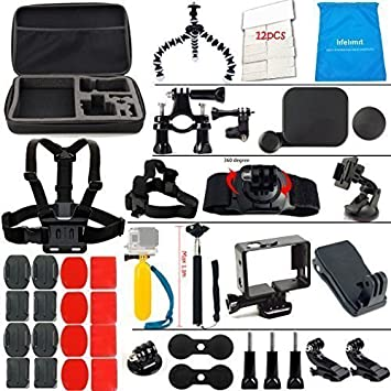 Suction Cup Mount SJ4000 Durable //3//2 //1 Floaty Bobber Monopod Set for GoPro HERO4 //3 4 in 1 Tripod Mount Adapter
