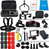 LifeLimit SB111111 Accessories Kit for Hero 5 Session Gopro Hero 4 Gopro Hero 3 Gopro Hero 2 and Gopro Hero HD (40 Items)