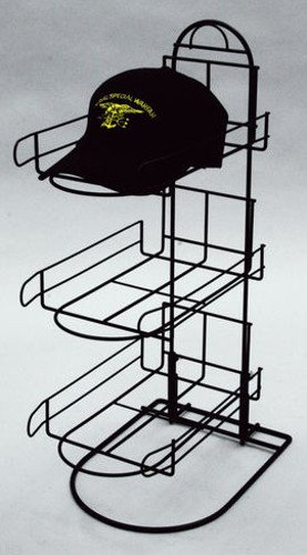 New 3 Tier Wire Baseball Cap Counter Display Rack Holds 8-10 Hats Per Row