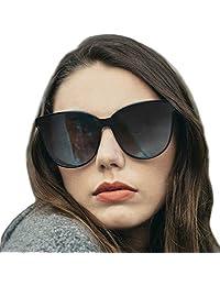 Gafas de sol estilo ojo de gato extragrandes con lentes de protección 100% UV polarizadas para las mujeres que conducen gafas de moda