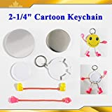 Cartoon Keychain Cute 2-1/4'' 58mm 100sets Parts Supplies for Pro Maker Machine