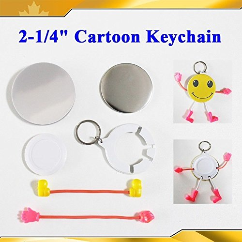 Cartoon Keychain Cute 2-1/4'' 58mm 100sets Parts Supplies for Pro Maker Machine by Button Maker