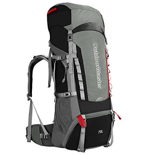 OutdoorMaster 70L+5L Hiking Backpack - Internal Frame wit...