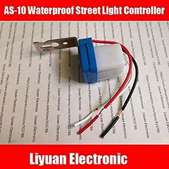 Fevas 5pcs AS-10 Waterproof Street Light Controller / 0.1S Automatic Street Light Light