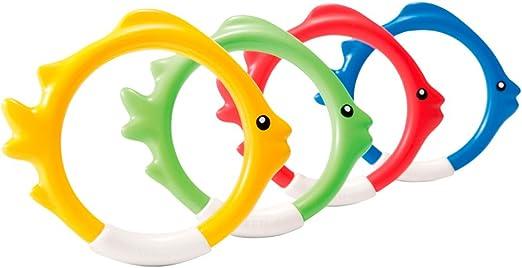 Intex 55507 - Juego acuático Aros 4 colores: Amazon.es: Juguetes y ...