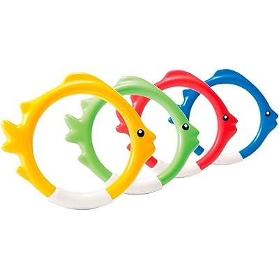 Intex 55507 - Juego acuático Aros 4 colores , color/modelo surtido