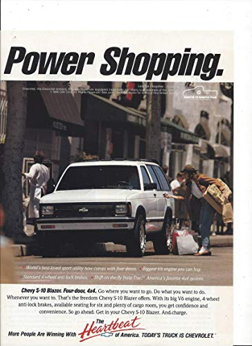 MAGAZINE ADVERTISEMENT For 1990 Chevrolet S-10 Blazer Trucks