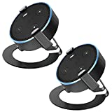 WALI Universal Metal Table Top Base Holder Bracket Case Stand for Dot 2nd Generation and Other Voice Assistants (SDM-EH-02B), 2 Packs, Black
