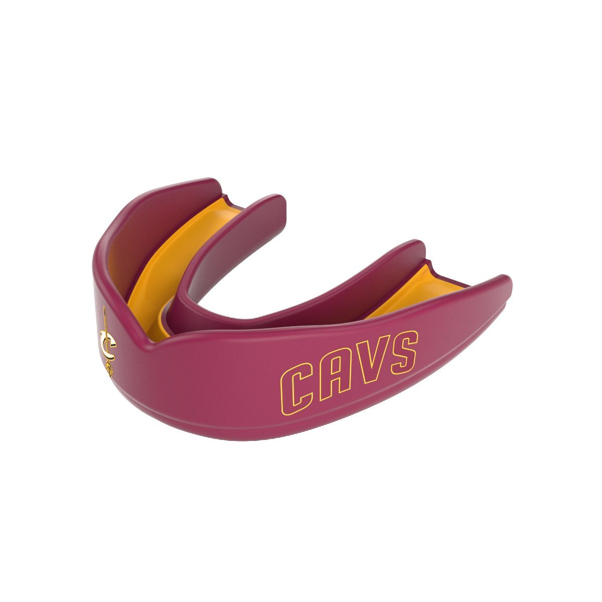Shock Doctor 8303-2511Y NBA Cleveland Cavaliers Basketball Mouth Guard, Wine/Gold, Youth